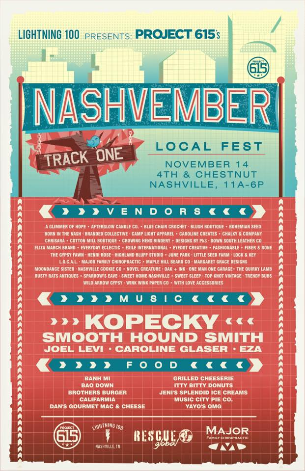 Eat, Shop, & Enjoy Live Music with us this Saturday at Nashvember!